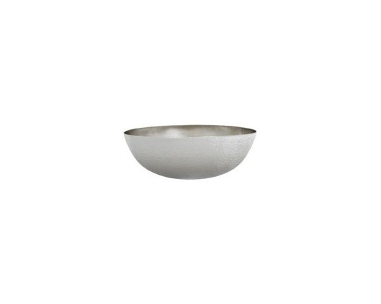"Maestro Oval in Brushed Nickel - Maestro Oval in Brushed Nickel for Sale at Kitchen Cabinet Kings. Full Specifications: 15 gauge hammered copper. 1.5 In. drain. IAPMO listed / cUPC certified. Post-consumer recycled copper. Width: 17 1/4"". Height: 6"" Depth: 13 1/4"" Finish: Brushed Nickel"