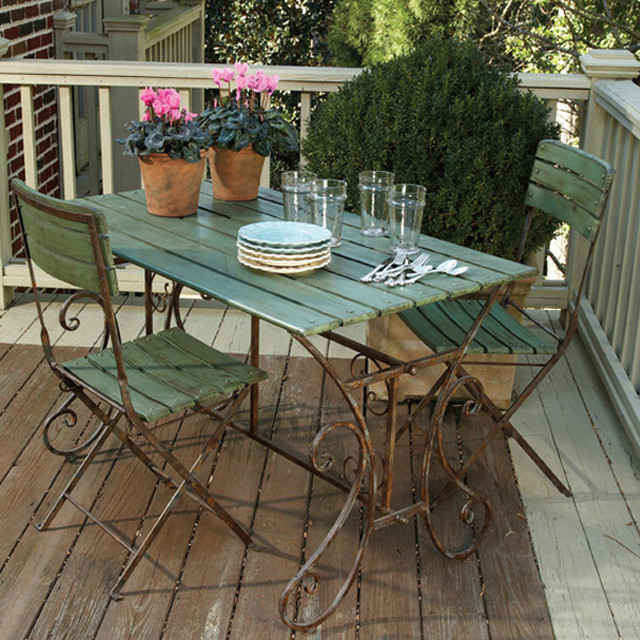 Left Bank Cafe Table & Chairs Eclectic Patio Furniture And Outdoor Fu
