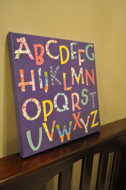 Alphabet Art for Nurseries/Kids Rooms/Playroom modern artwork