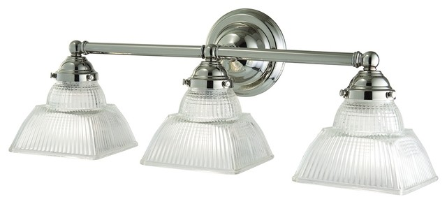Hudson Valley Majestic Square 3-Light Nickel Bath Fixture traditional-lamp-shades