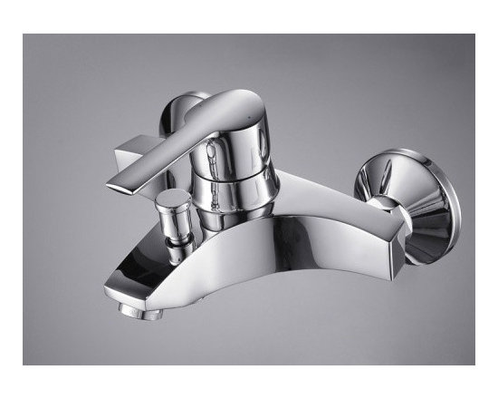 Shower Faucets - Single Handle Chrome Wall-mount Bathtub Faucet--FaucetSuperDeal.com