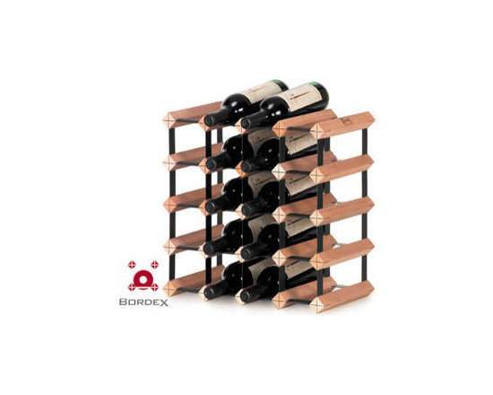 Bordex 20 Bottle Wine Rack Kit - Bordex commercial wine racks are the most space saving units in the world and their unique residential modular racks are available in a range of kit sizes and can also be custom made to accommodate any size wall or cabinetry. Made from quality hardwood plantation timber and baked enamel steel, every Bordex wine rack is manufactured to the highest standard. Look for the Bordex logo to ensure you are buying a genuine Bordex product.