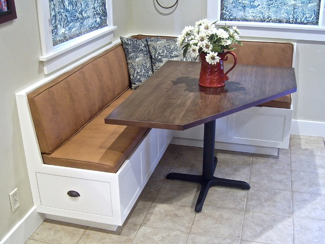 corner banquette and table traditional dining tables