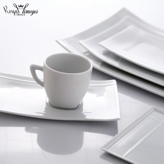 Royal Limoges Pagode White Dinnerware Modern