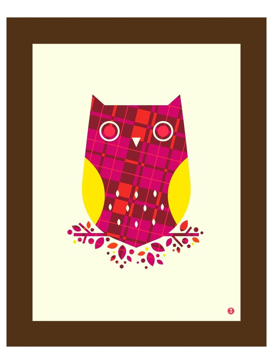 """""""pattern series: burberry owl limited edition print"""" Artwork - Do you like burberry? Do you like owls? Well, you're in luck, friend!  Burberry owl, part of bee things' pattern print series, is a limited edition handmade screen print on heavy, white archival paper. Print measures 16 x 20 (40.6 cm x 50.8 cm), and sits beautifully within the common frame size of the same (16 x 20 in or 61 x 45.7 cm). First edition of 125.  Note: the actual colors are brighter and richer than they appear on screen, but what you see is as good as an approximation as we can manage!"""