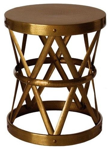 Arteriors Costello Side Table, Antique Brass traditional side tables and accent tables