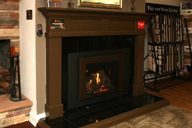 Atlanta Gas Fireplace Insert With Blowers And Thermostatic Remote Modern Atlanta By The