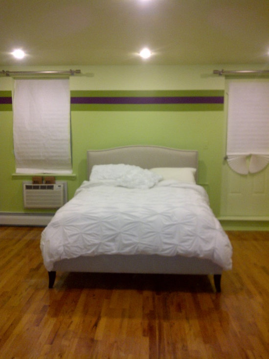 Green & Purple Striped Walls - Benjamin Moore Pallet