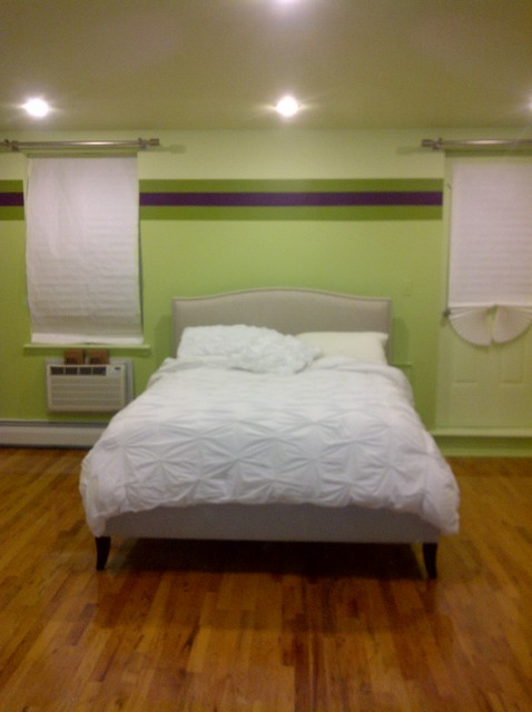 Green & Purple Striped Walls - modern - paints stains and glazes ...