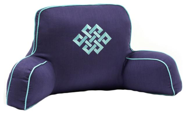 Hillary Thomas Designs Navy Aqua Backrest Pillow contemporary-decorative-pillows