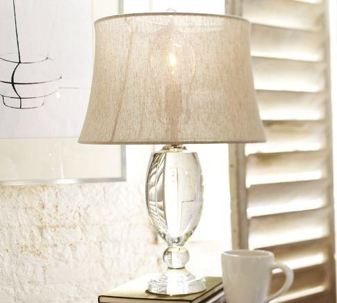 Lexington Crystal Table Lamp Base - Modern - Lamp Bases - by Pottery Barn