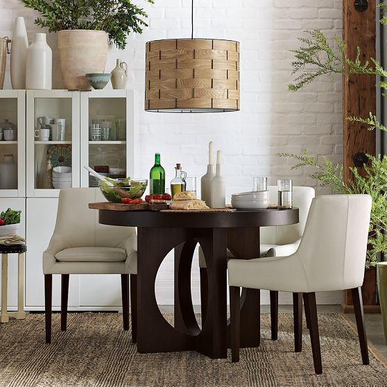 round dining table with cutout legs modern dining tables