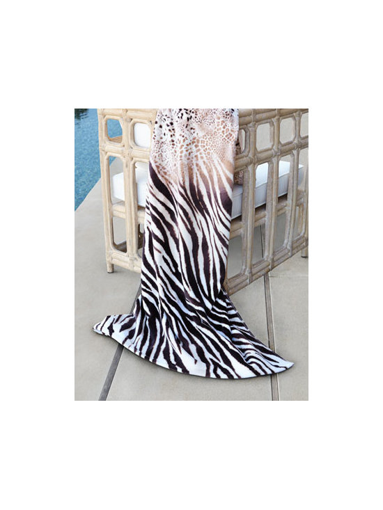 "Natori - Natori ""Safari"" Beach Towel - Turn a trip to the beach or pool into an adventure with this animal-print beach towel. It offers the perfect balance of comfort, quality, and durability for the beach, pool, and beyond. Made of cotton. Machine wash. 40"" x 70"" Imported."