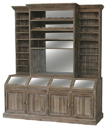 Belmont Wine Bar Hutch - Traditional - China Cabinets And Hutches ...