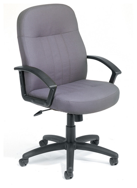 Gray High Back Fabric Managers Office Chair Contemporary Office Chairs