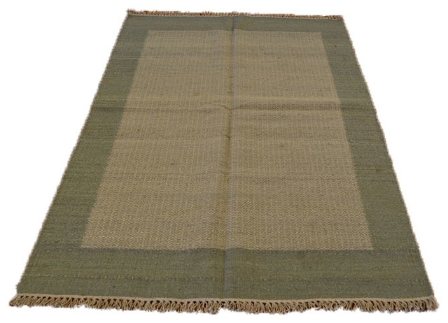 Hand Woven Silver Blue Durie Kilim Flat Weave Sh6989 transitional-rugs