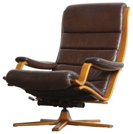 Pre owned gote mobel mobler danish leather lounge chair for Danish design mobel