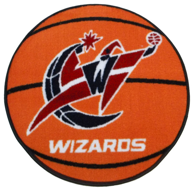 NBA Washington Wizards Rug Basketball Shaped Mat
