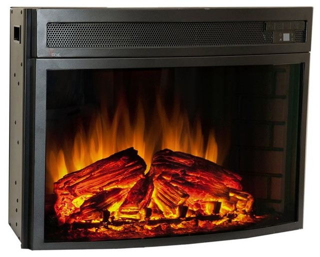 Comfort Smart Verve 24 In Curved Electric Insert Cs 501625 Contemporary Indoor Fireplaces