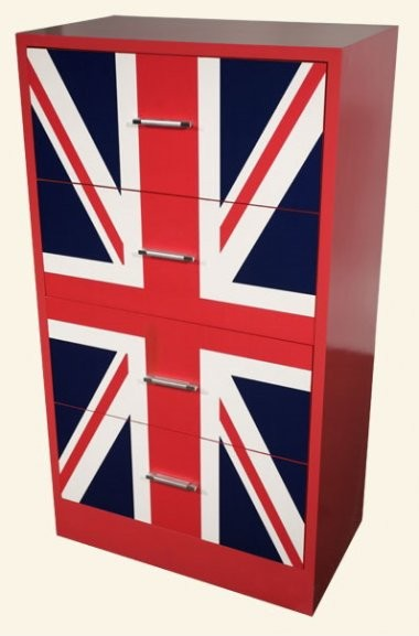 lounge lizard union jack 4 drawer chest of drawers eclectic dressers