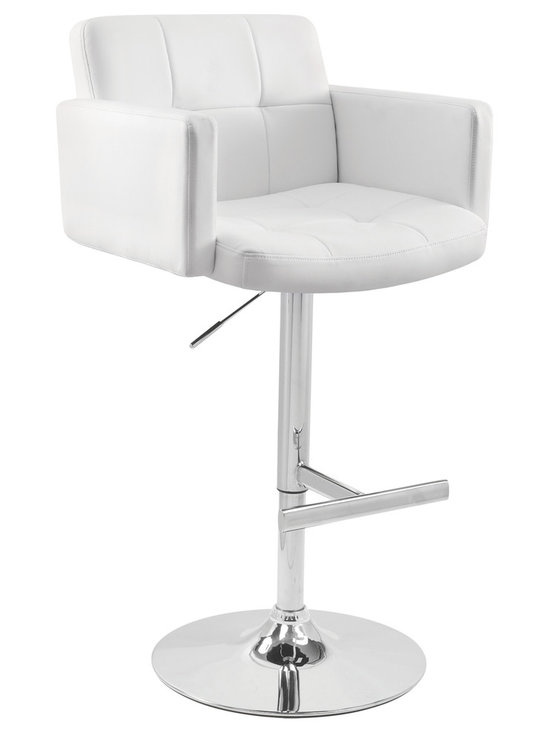 Stout Bar Stool - WHITE