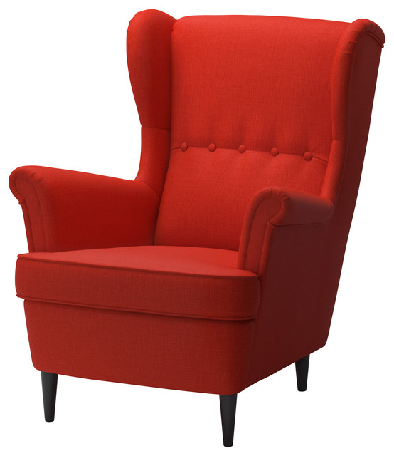 Strandmon wing chair skiftebo orange contemporain fauteuil et chauffeuse - Fauteuil orange ikea ...