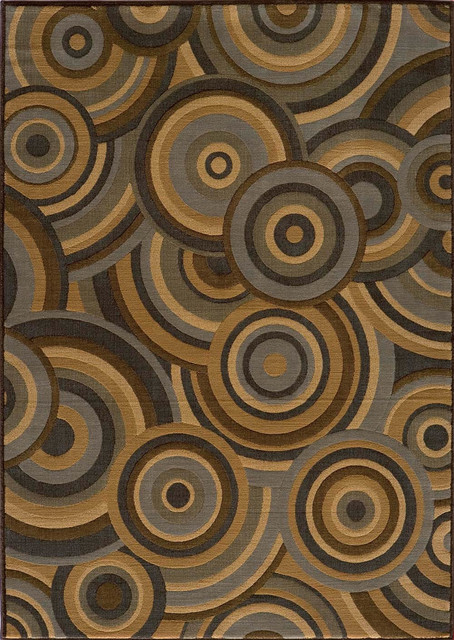 """Momeni Dream DR-05 (Brown) 3'11"""" x 5'7"""" Rug contemporary-area-rugs"""