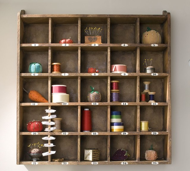 Cubby Organizer Natural Traditional Display And Wall