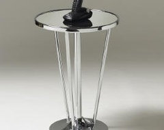 Sassy Chrome & Mirrored Accent Table modern-side-tables-and-end-tables