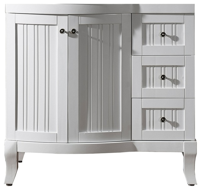 Virtu USA Khaleesi 36 inch White Bathroom Cabinet contemporary bathroom vanities and sink consoles