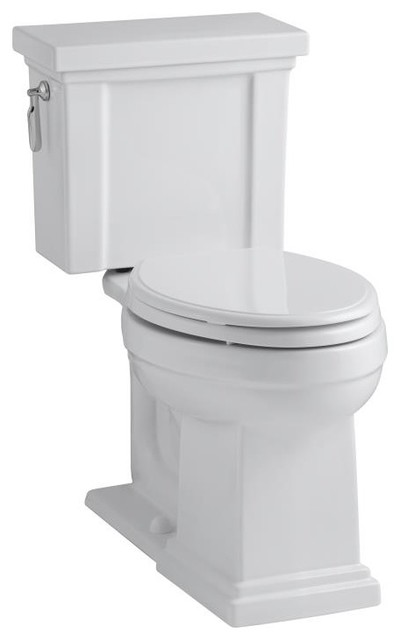 Tresham Comfort Height Two-Piece Elongated 1.28 gpf Toilet contemporary toilets