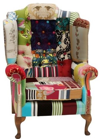 Patchwork Chairs traditional armchairs