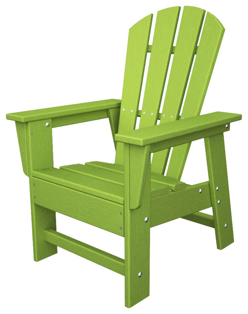 kids adirondack lime green all weather recycled plastic furniture. Black Bedroom Furniture Sets. Home Design Ideas