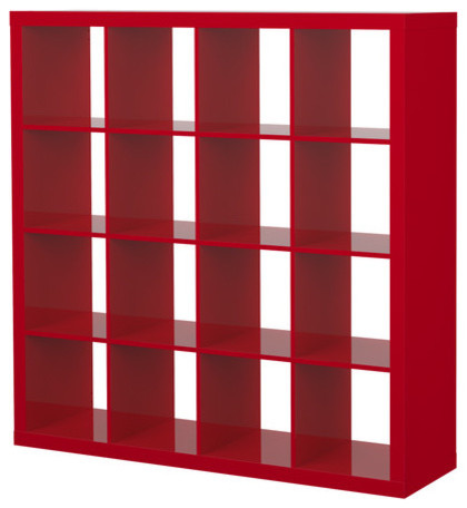 Expedit Shelving Unit, High Gloss Red modern bookcases cabinets and computer armoires