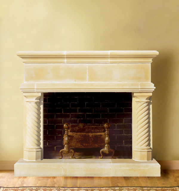 victoria cast stone fireplace mantel traditional