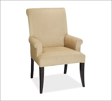 Pb comfort upholstered dining armchair ticking stripe for Striped upholstered dining chairs