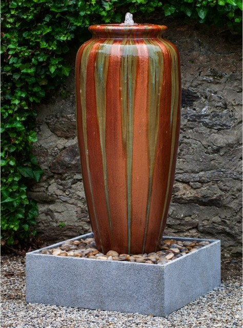 Campania International Catinat Jar Outdoor Fountain With Basin Gf 813 1601r Contemporary