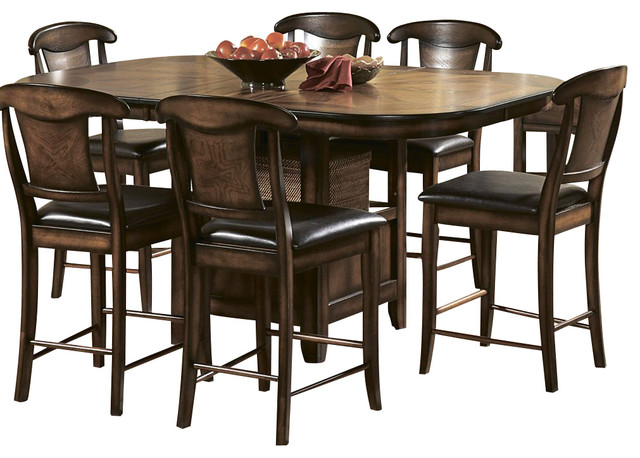 Homelegance westwood 7 piece counter height dining room for 7 piece dining room set counter height