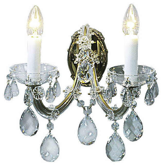 Traditional Crystal Wall Lights : Maria Theresa Crystal Sconce (Traditional Crystal) - Traditional - Wall Sconces - by Inviting ...