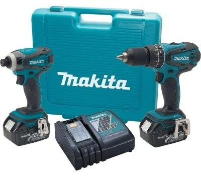 Power Tool Drill Kit: Makita 18-Volt LXT Lithium-Ion Combo Kit (2-Tool) LXT211 - Contemporary ...