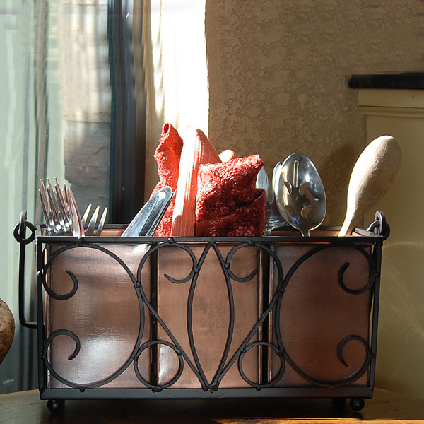 Jackson Flatware Caddy - mediterranean - cabinet and drawer