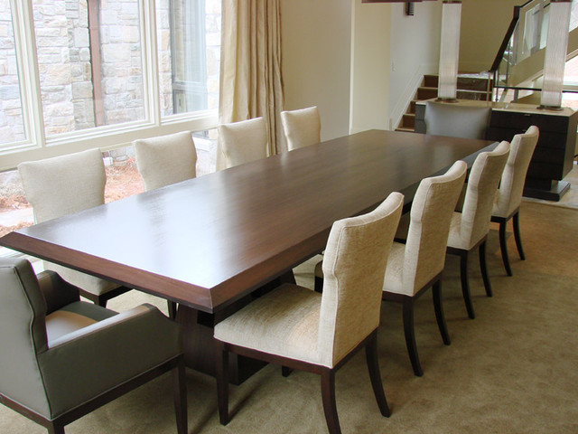Long Dining Table Top View Contemporary Furniture Baltimore By Jenkins Baer Associates