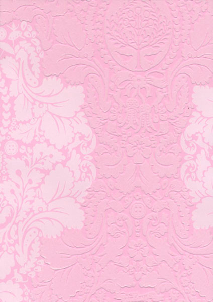 Pip Light Pink Flock Damask Wallpaper - Eclectic - houston - by ...