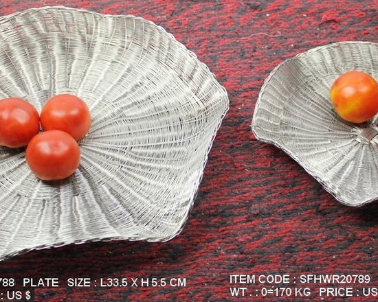 Handwoven Wire Tableware-Stainless Steel - Handwoven Stainless Steel Wire Plates with High quality Nickel Finish