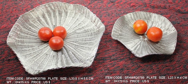 Handwoven Wire Tableware-Stainless Steel traditional-dinner-plates