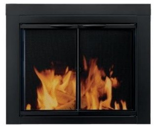 Fireplace Doors: Pleasant Hearth Alpine Small Glass Fireplace Doors AN-1010 contemporary-fireplaces