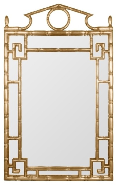 Gold Pagoda Mirror Traditional Wall Mirrors Other