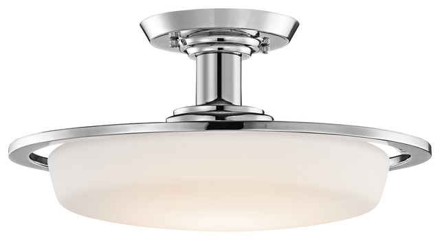 One Light Convertible Semi-Flush Mount