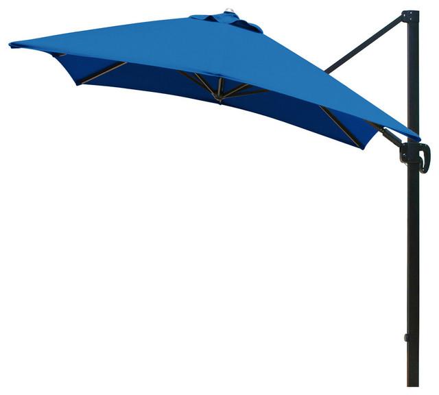 10 Feet Square Sunbrella Fabric Cantilever Umbrella With