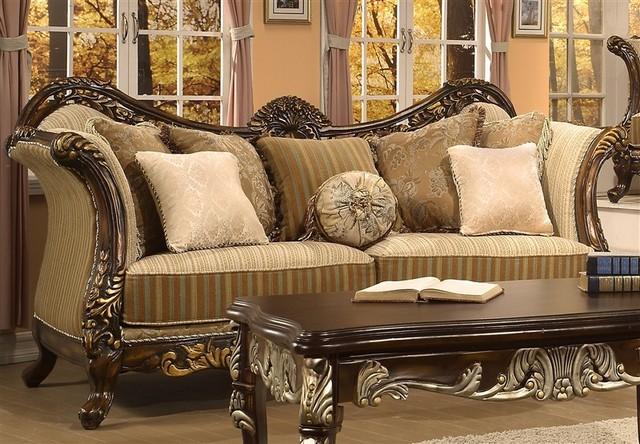 Homey Design Trento Gold Paintbrush Sofa 266 S